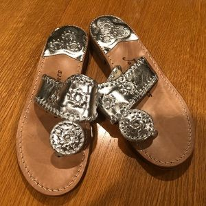 Silver Jack Rogers Sandals